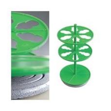 Штатив ПЭ-2920 для 6-ти цилиндрических делительных воронок объемом 100 мл