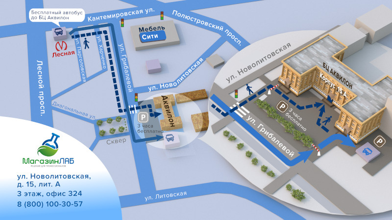 схема проезда МагазинЛАБ (Санкт-Петербург)